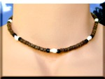 Coconut shell beaded necklace, 'A'ula Eli Eli Pupu'.