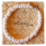 White Puka Shell Anklet or Bracelet