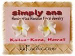 White and Yellow Plumeria Earrings