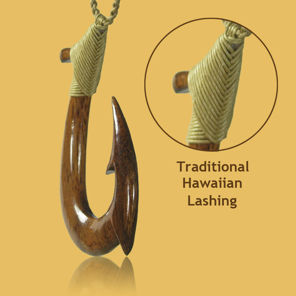 Woodworking plans and project guide make scrap koa wood for Maui fish hook necklace