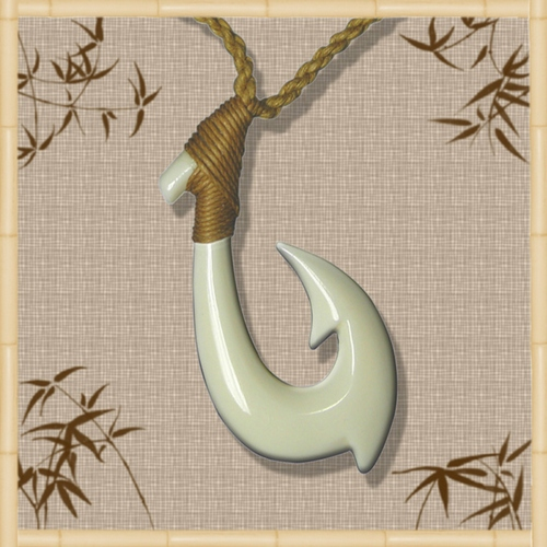 how to make a bone fish hook necklace